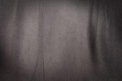 Textura de cuero negra Imagen de archivo