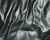 Textura de cuero negra fotografía de archivo
