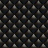 Textura de cuero negra de la tapicería Foto de archivo libre de regalías