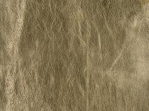 Textura de cuero de oro natural, real Fotos de archivo