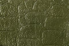 Textura de cuero verde Fotos de archivo libres de regalías