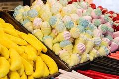 Textura de dulces Primer de algunos dulces Foto de archivo libre de regalías
