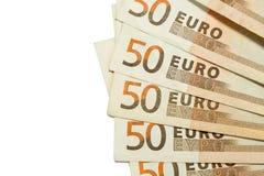 textura de 50 euro- contas Foto de Stock