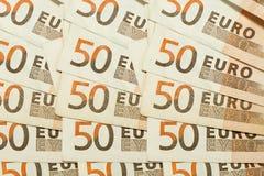 textura de 50 euro- contas da cédula Imagem de Stock