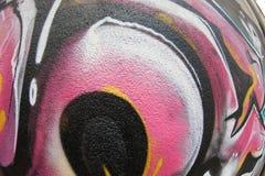 Textura de FishEye del fragmento de la pared de la pintada para el fondo Imágenes de archivo libres de regalías