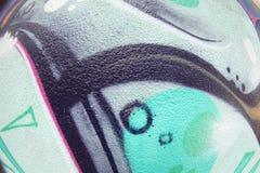Textura de FishEye del fragmento de la pared de la pintada para el fondo Foto de archivo libre de regalías