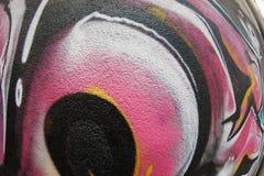 Textura de FishEye del fragmento de la pared de la pintada para el fondo Imagen de archivo libre de regalías