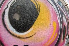 Textura de FishEye del fragmento de la pared de la pintada para el fondo Fotos de archivo libres de regalías