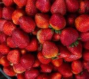 Textura de fresas rojas deliciosas fotografía de archivo libre de regalías