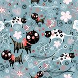 Textura de gatos divertidos ilustración del vector