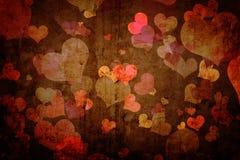 Textura de Grunge com corações Foto de Stock