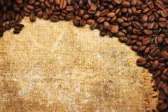 Textura de Grunge de los granos de café Fotos de archivo