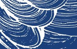 Textura de Grunge Rastro áspero del añil de la desolación Encha stock de ilustración