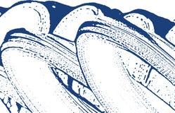 Textura de Grunge Rastro áspero del añil de la desolación Fondo divino Textura sucia del grunge del ruido Symmetri libre illustration