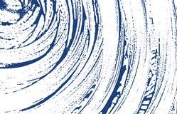Textura de Grunge Traço áspero do índigo da aflição Fundo dramático Textura suja do grunge do ruído A agradável ilustração do vetor