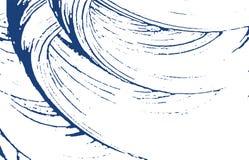 Textura de Grunge Traço áspero do índigo da aflição Fundo dramático Textura suja do grunge do ruído grande ilustração stock
