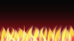 Textura de incandescência abstrata de um fogo ardente alaranjado vermelho brilhante quente com as línguas do fundo do espaço da c ilustração stock