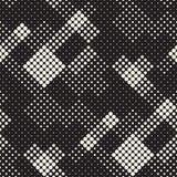 Textura de intervalo mínimo à moda moderna Fundo abstrato infinito com círculos aleatórios Teste padrão de mosaico sem emenda do  Imagem de Stock Royalty Free