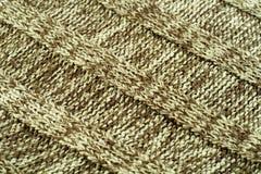 Textura de lã da diagonal da camisola Imagens de Stock Royalty Free