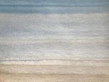 Textura de la acuarela con las rayas azules y marrones, fondo de pintura de la mano fotos de archivo libres de regalías