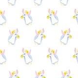 Textura de la acuarela de los ángeles de Pascua aislada Imagen de archivo libre de regalías