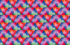 Textura de la acuarela de los triángulos foto de archivo libre de regalías