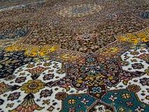 Textura de la alfombra persa del palacio del ` s del rey fotografía de archivo