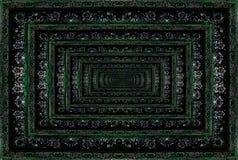 Textura de la alfombra persa, ornamento abstracto Modelo redondo de la mandala Fotografía de archivo