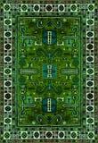 Textura de la alfombra persa, ornamento abstracto Modelo redondo de la mandala, superficie tradicional del este de la alfombra Ma Foto de archivo libre de regalías
