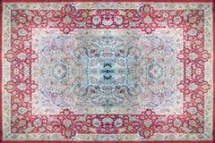 Textura de la alfombra persa, ornamento abstracto Modelo redondo de la mandala, textura tradicional medio-oriental de la tela de  Imagenes de archivo