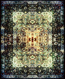 Textura de la alfombra persa, ornamento abstracto Modelo redondo de la mandala, textura tradicional medio-oriental de la tela de  Fotografía de archivo libre de regalías