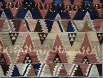 Textura de la alfombra turca Fotografía de archivo