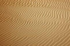 Textura de la arena del desierto del oro Foto de archivo