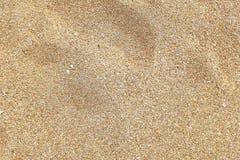 Textura de la arena en la playa Imagen de archivo libre de regalías