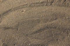 Textura de la arena de la playa en la costa de mar foto de archivo libre de regalías