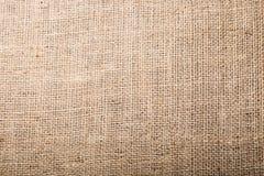 Textura de la arpillera Fotografía de archivo