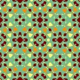 Textura de la baldosa cer?mica Modelo inconsútil magnífico del remiendo de los ornamentos coloridos para las baldosas cerámicas ilustración del vector