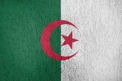 Textura de la bandera de Argelia fotografía de archivo