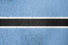 Textura de la bandera de Botswana Imágenes de archivo libres de regalías