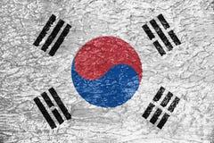 Textura de la bandera de la Corea del Sur libre illustration