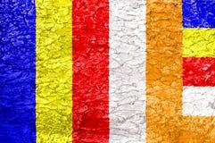 Textura de la bandera del budismo Fotografía de archivo
