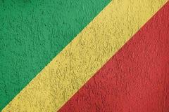 Textura de la bandera del República del Congo Foto de archivo
