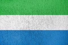 Textura de la bandera del Sierra Leone Foto de archivo libre de regalías