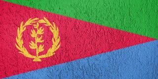Textura de la bandera de Eritrea Imagenes de archivo