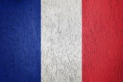 Textura de la bandera de Francia Imágenes de archivo libres de regalías