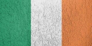 Textura de la bandera de Irlanda Fotos de archivo