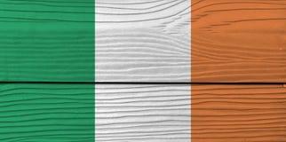 Textura de la bandera de Irlanda del Grunge, una vertical tricolora de verde, de blanco y de anaranjado ilustración del vector