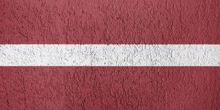 Textura de la bandera de Letonia Fotos de archivo libres de regalías
