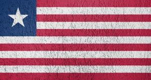Textura de la bandera de Liberia Imagenes de archivo