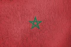 Textura de la bandera de Marruecos Fotografía de archivo libre de regalías